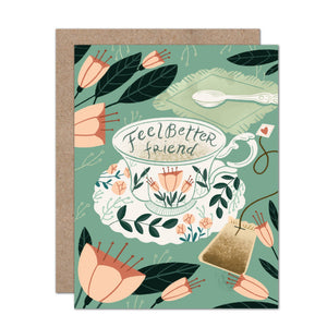 Feel Better Friend Teacup Sympathy Card