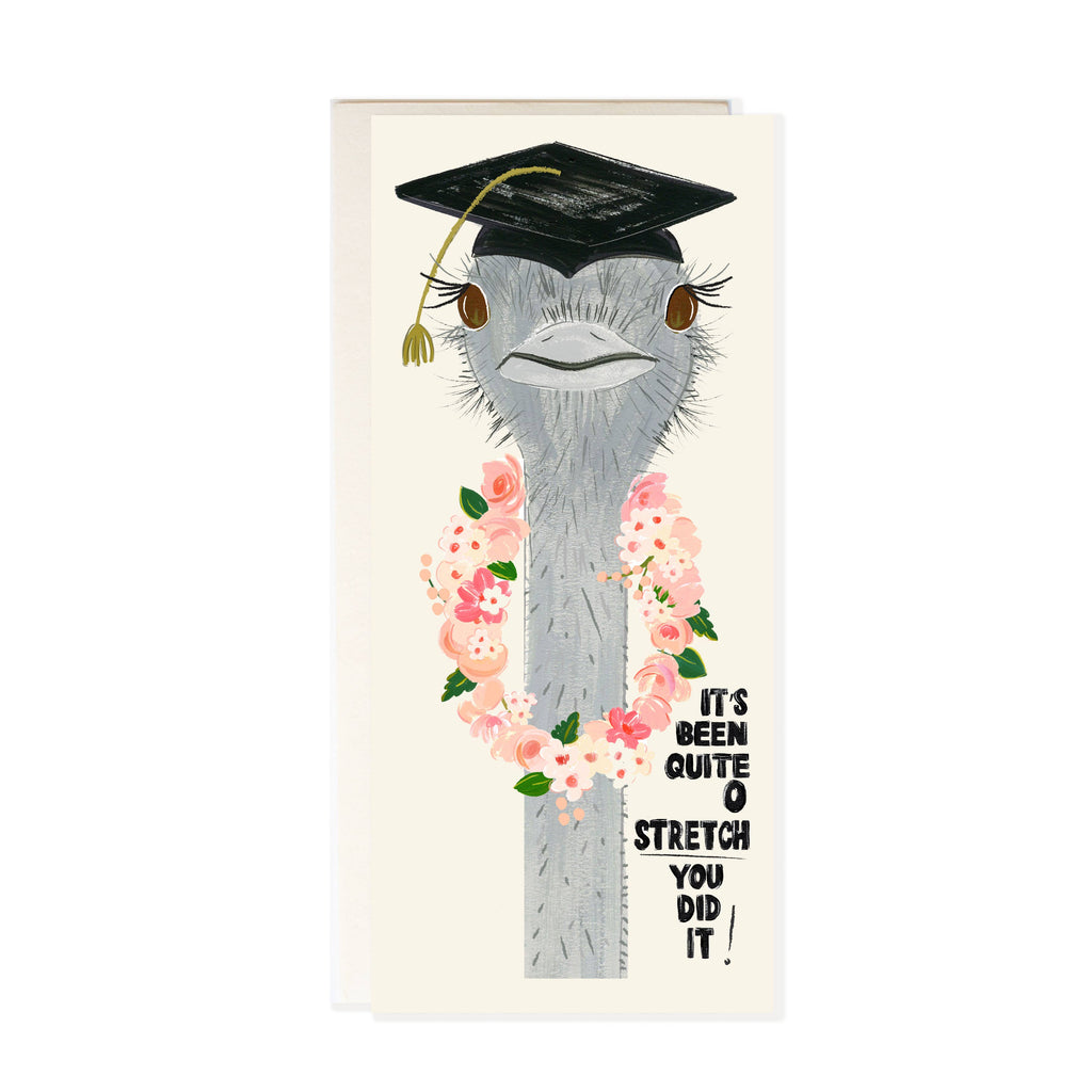 Ostrich Graduation Congratulations Card