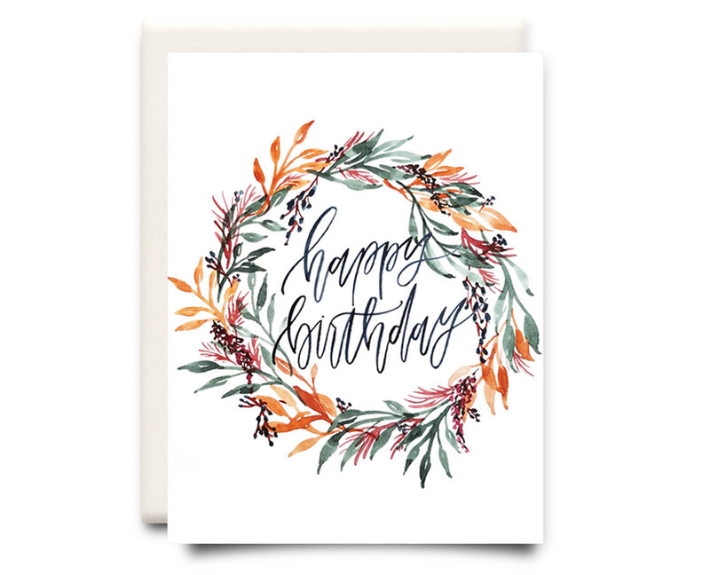 Pretty Birthday Wreath | Greeting Card