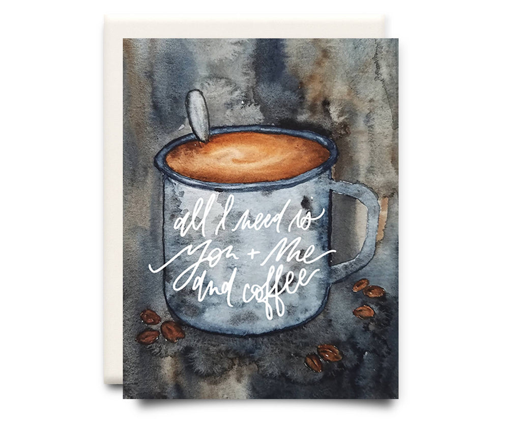 You + Me and Coffee | Anniversary Greeting Card