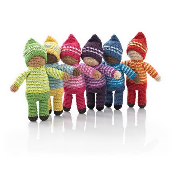 Fair Trade Knit Doll Rattles