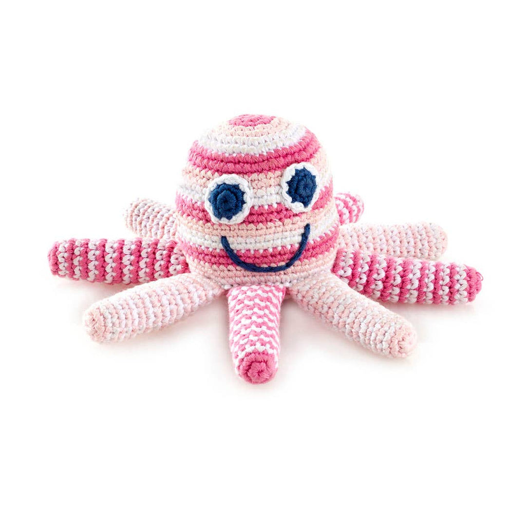 Pink Octopus Pale Rattle
