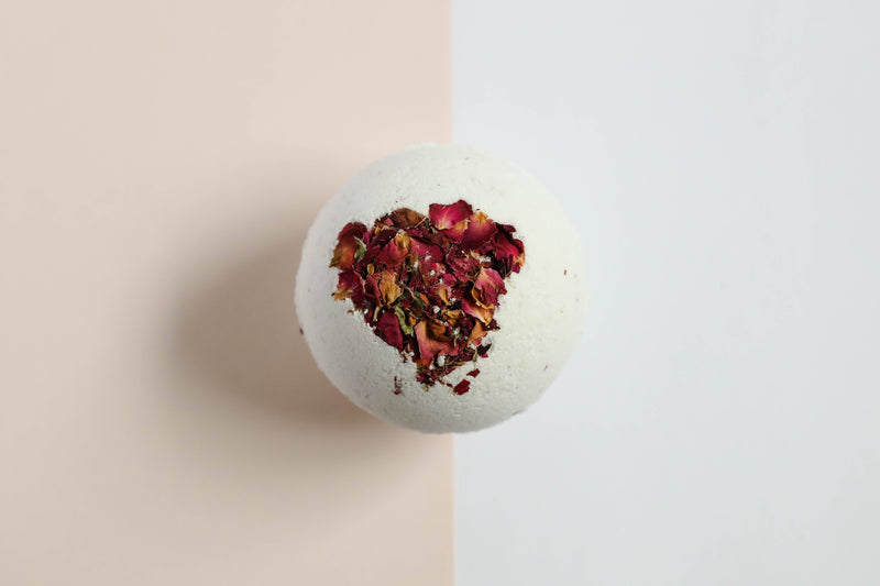 Rose  Essential Oil Bath Bomb - 7 oz
