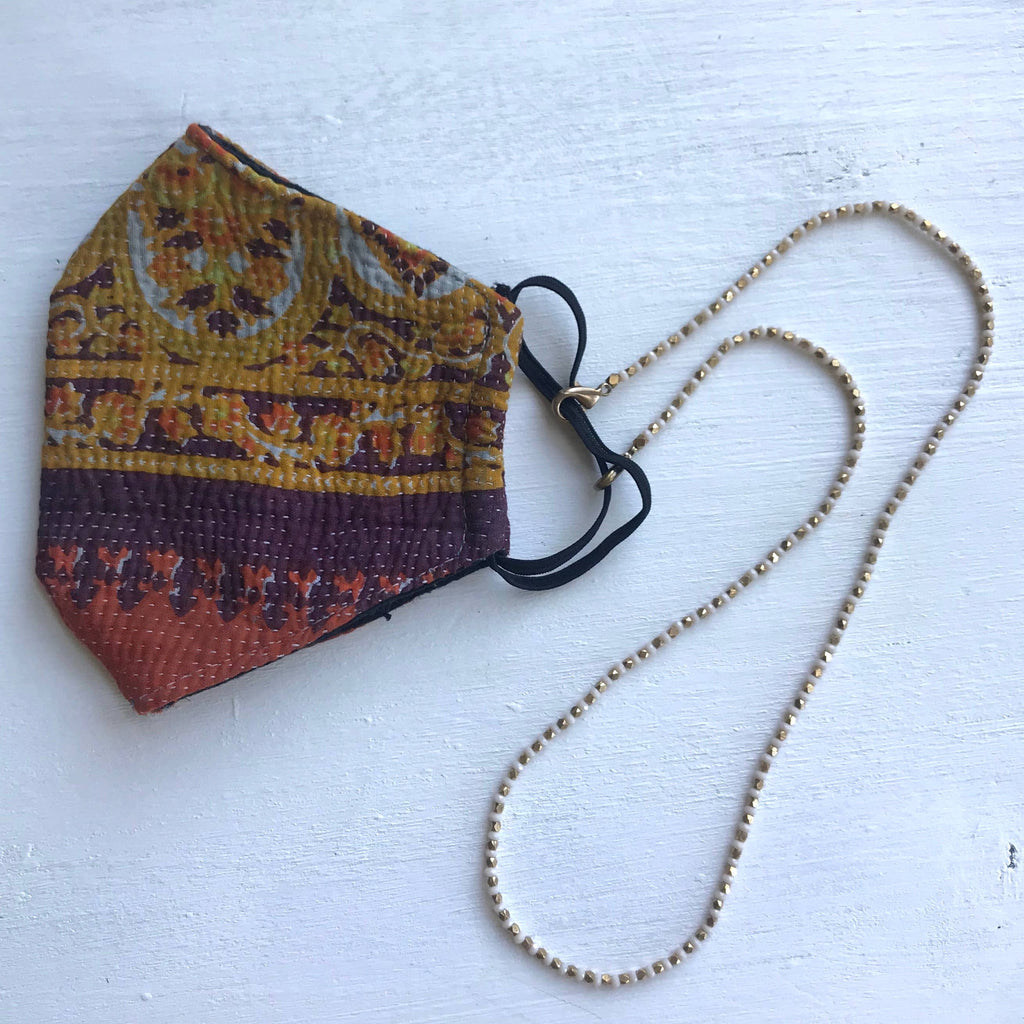 Beaded Mask Necklace - Beaded Mask Lanyard