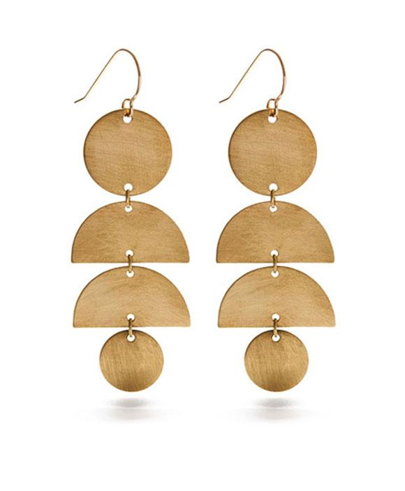 Half Moon Luxe Stack Earrings