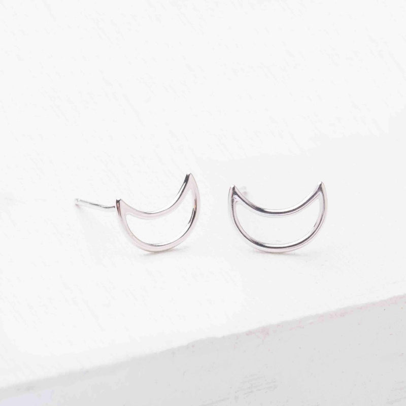 Phoenix Silver Half Moon Earrings