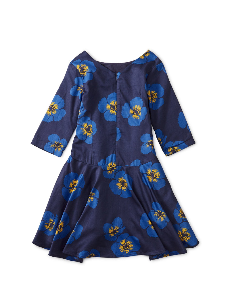 Cotton Sateen Himalayan Poppy Dress (2-12)