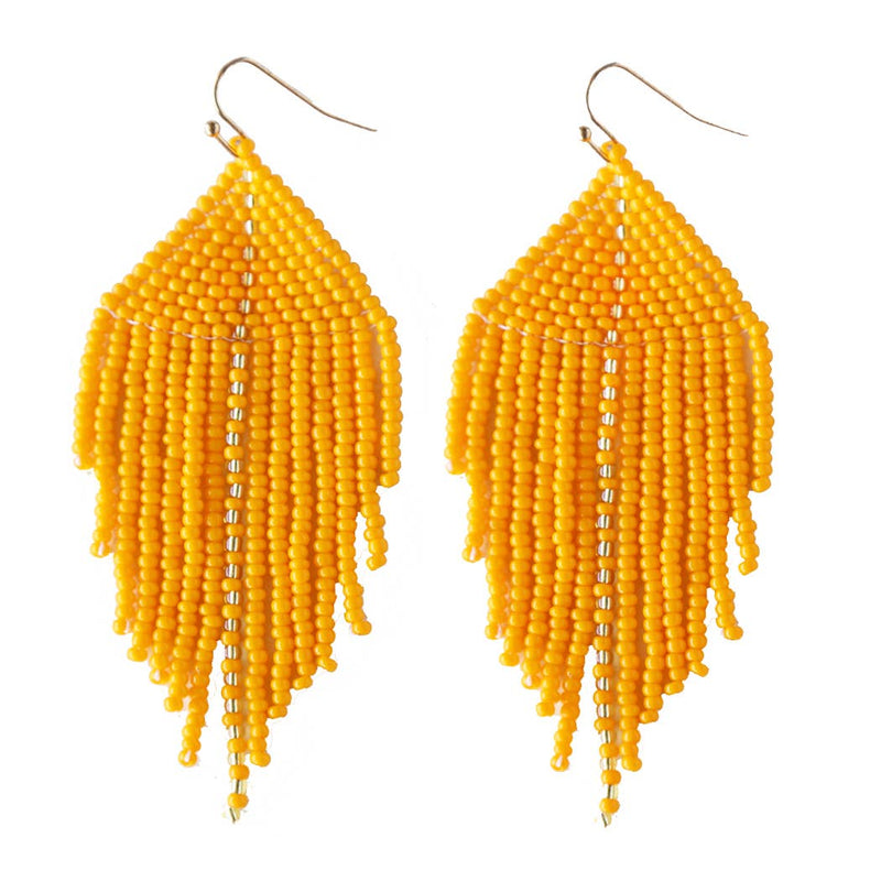 Raya Beaded Earrings Mandarin