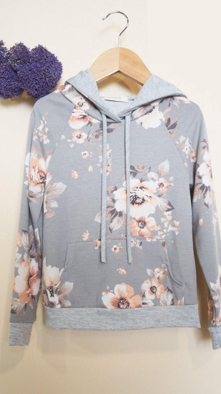 Little Ladies Grey Hoodie (4T-10Y)