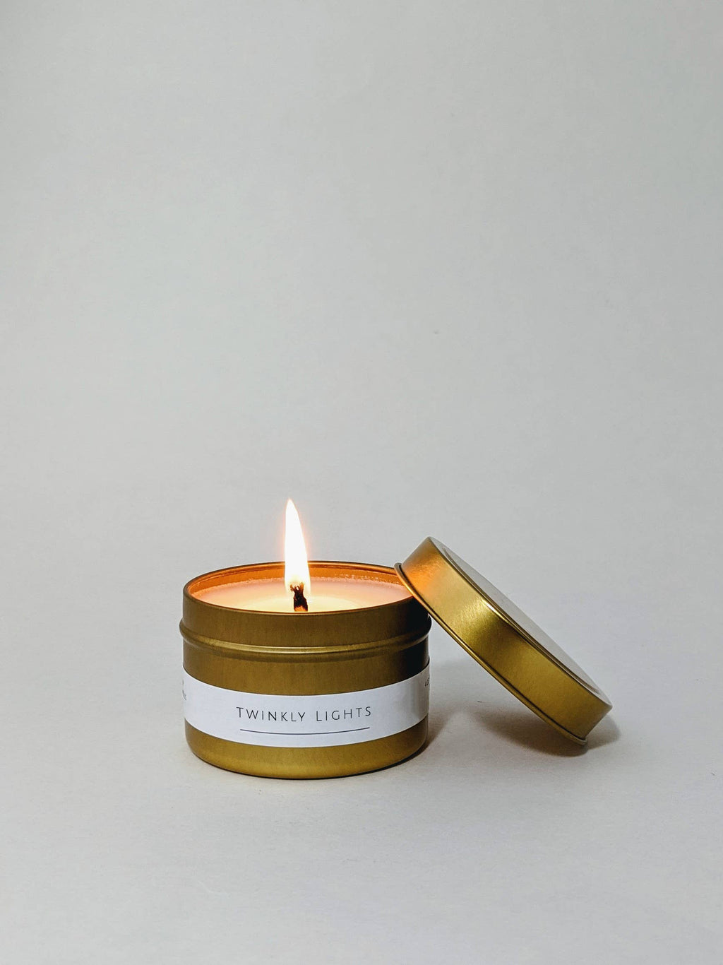Twinkly Lights 4 oz Gold Tin Candle (Holiday)