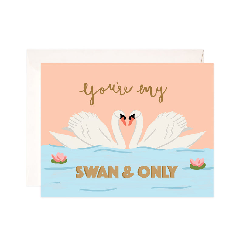 Swan and Only Card