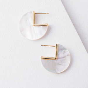 Remy Mother-of-Pearl Earrings