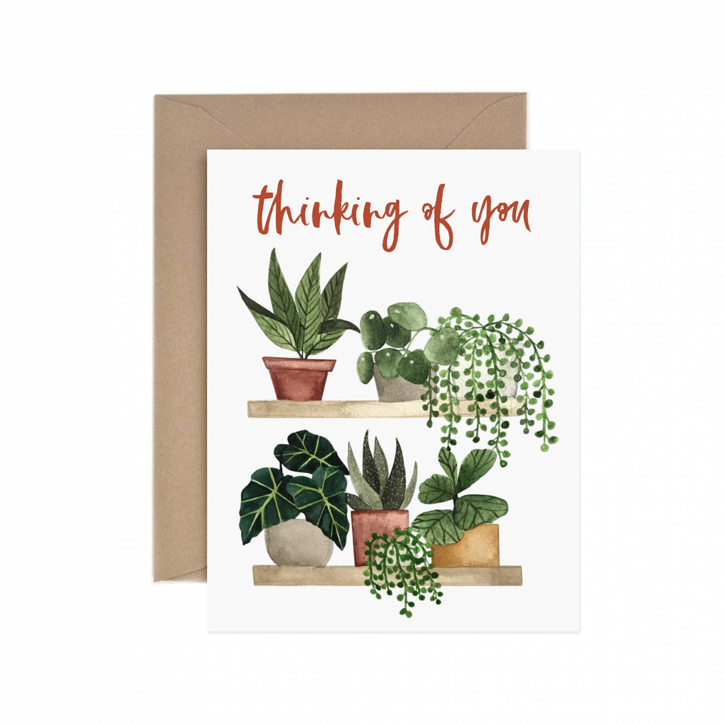 Thinking of You Plant Shelf Greeting Card