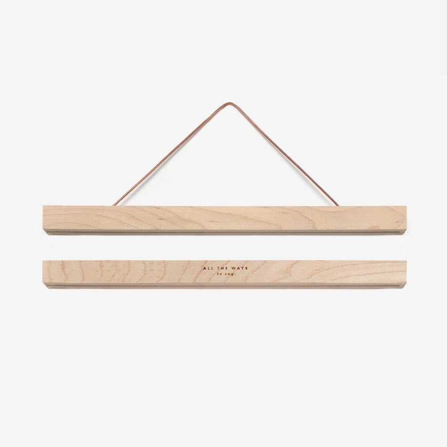 "12""  Medium Wooden Magnetic Print Hanger"