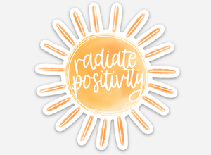 Radiate Positivity Sun Sticker