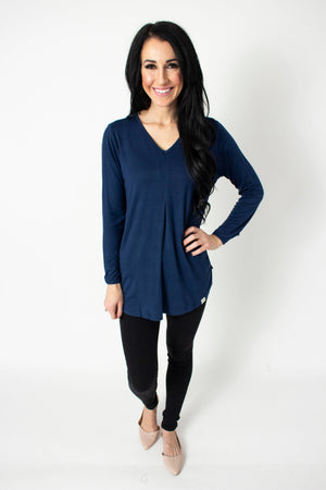 Navy Long Sleeve Eloria