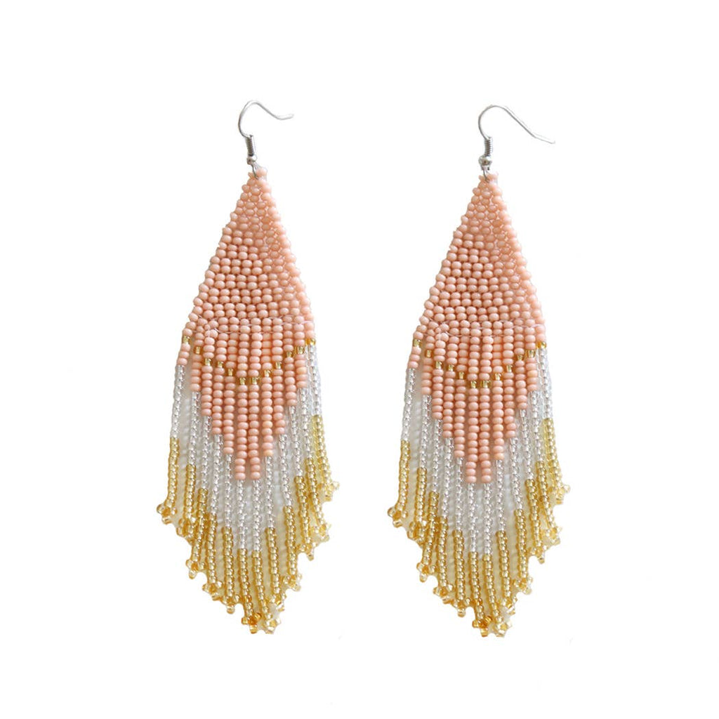Rosé Beaded Earrings