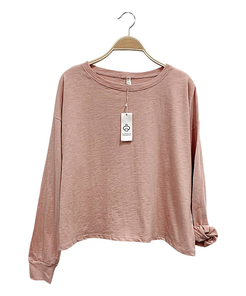 Mauve Cotton Slub Top