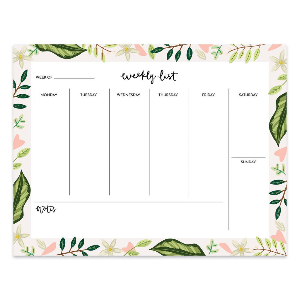 Leaves Weekly Planner Desk Pad