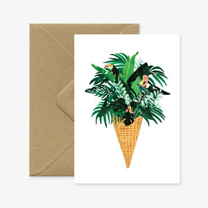 Ice Cream Jungle Card