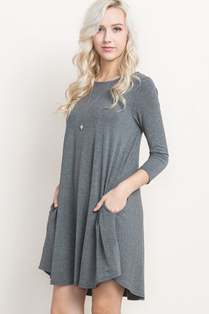 Bamboo Grey Sleeve Dress