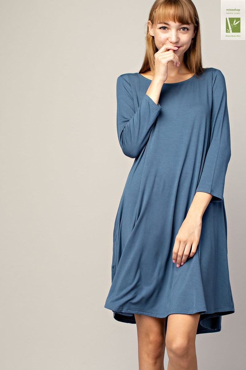 Ocean Bamboo Sleeve Dress