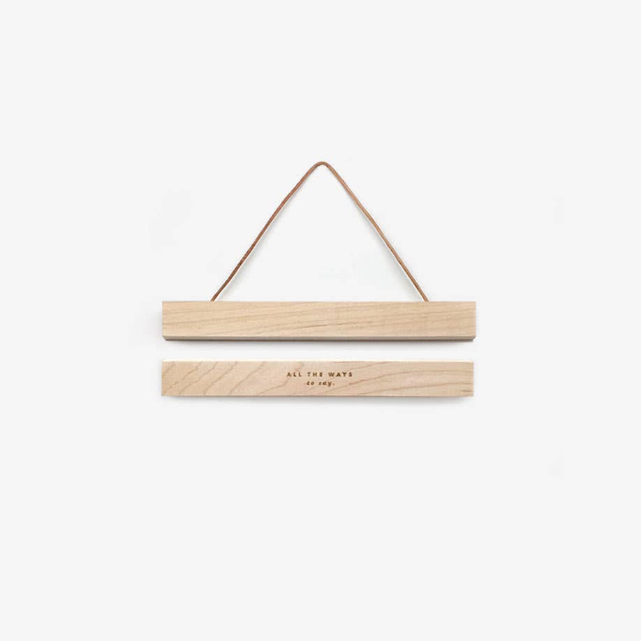 "7""  Small Wooden Magnetic Print Hanger"
