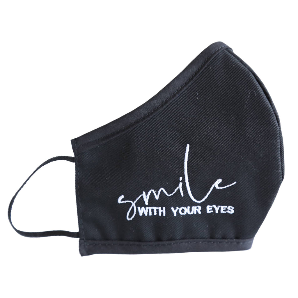 Smile Embroidered Face Mask