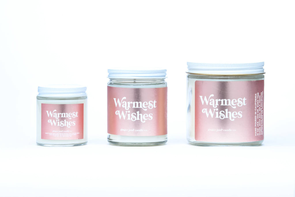 warmest wishes • NON TOXIC SOY CANDLE