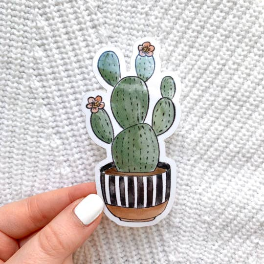 Watercolor Floral Cactus Sticker