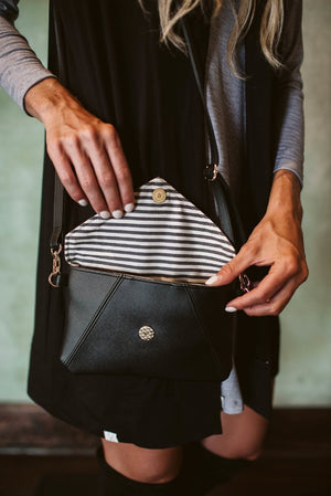 Vegan Black Emily Cross Body