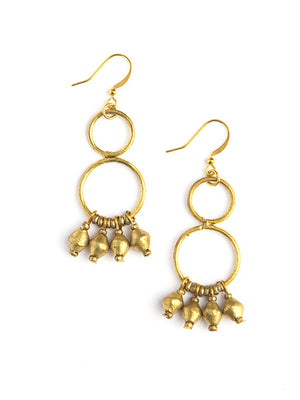 Gold Comet Chandelier Earrings