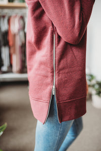 Berry Zipper Pullover