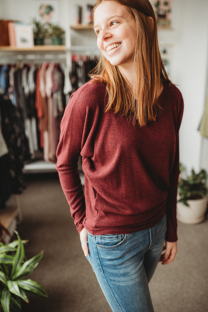 Cranberry Dolman Sweater