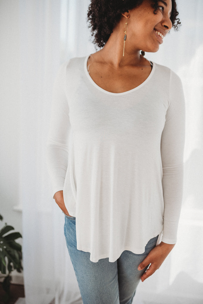 Ivory Flowy Long Sleeve