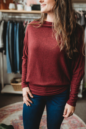 Warm Cranberry Sweater