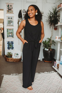 Black Crop Jumpsuit *Tall Girl