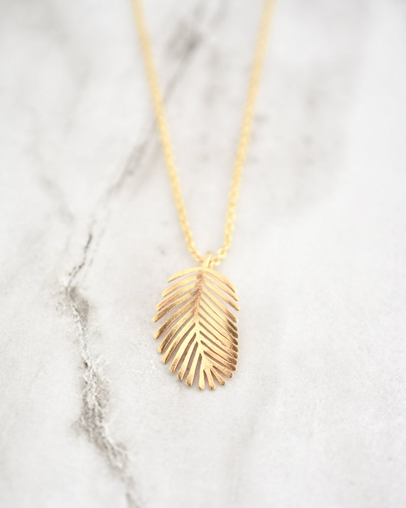Palm Leaf Charm Necklace