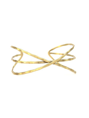 Hammered Cohesion Cuff - Gold