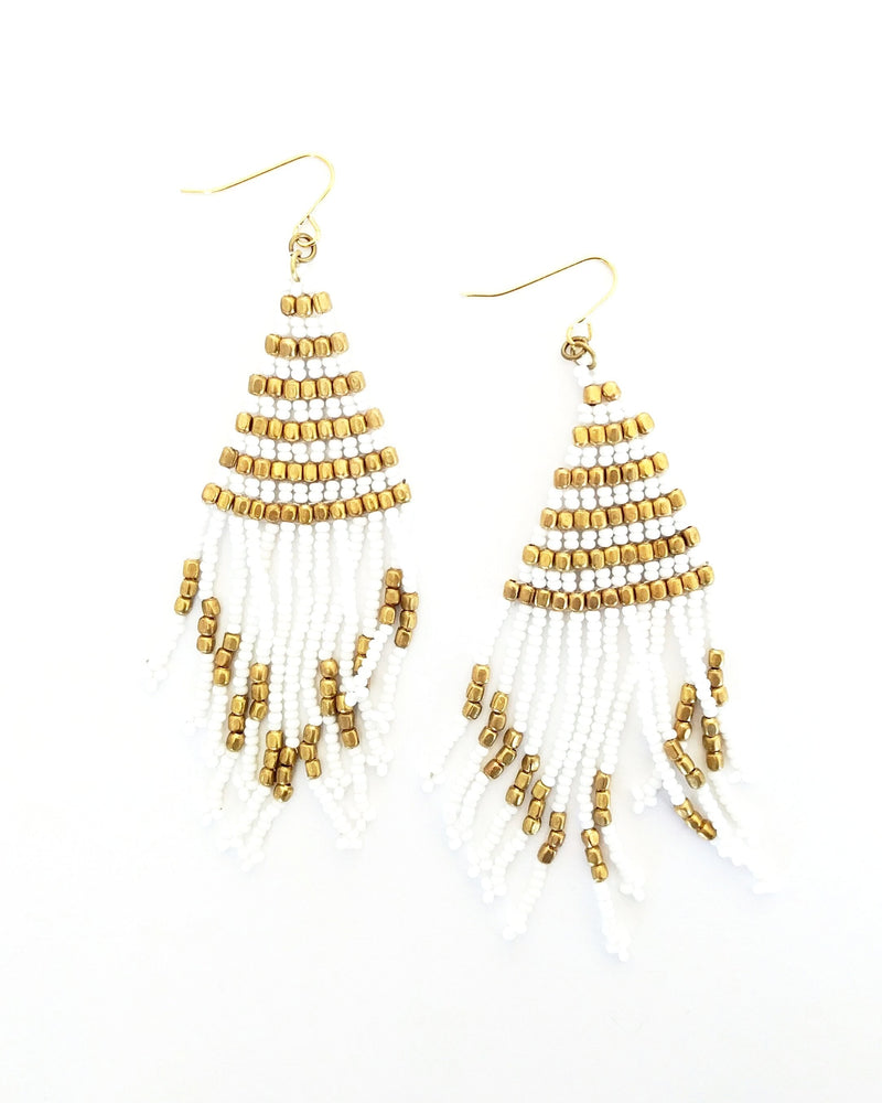 Coco Shimmer Earrings - Ivory
