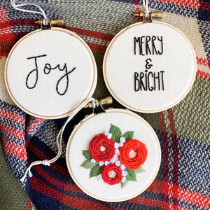 Embroidered Ornament Hoops