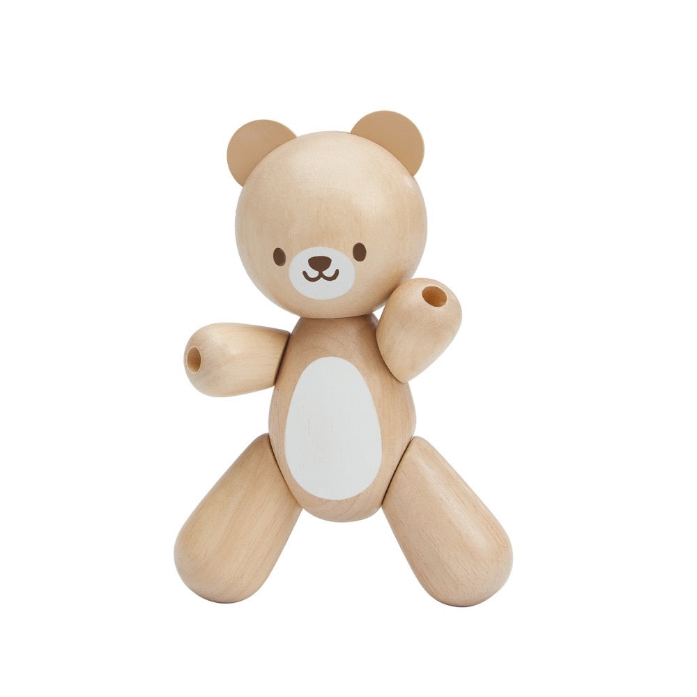 Wooden Swivel Baby Bear
