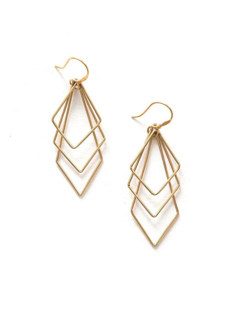 Gold Paragon Earrings
