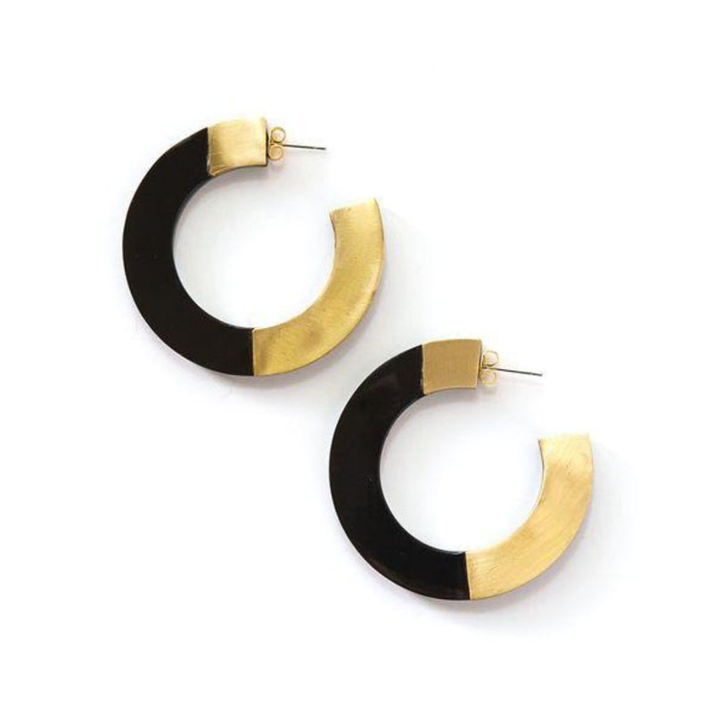 Interlocked Brass + Horn Hoops
