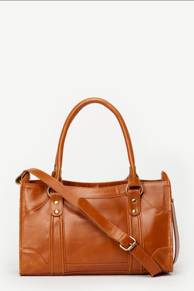 Leather Camel Mod Bag