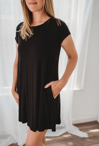Bamboo Black Tee Dress