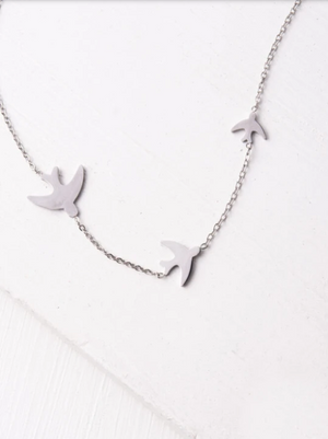 Silver Sparrow Necklace