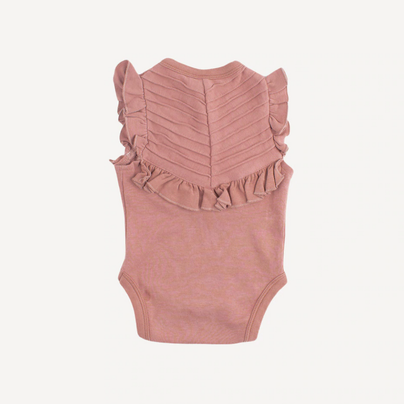 Sleeveless Ruffle V-Yoke Bubble suit- 2 colors