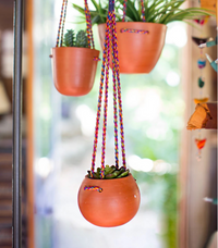 Round Terracotta Hanging Planter