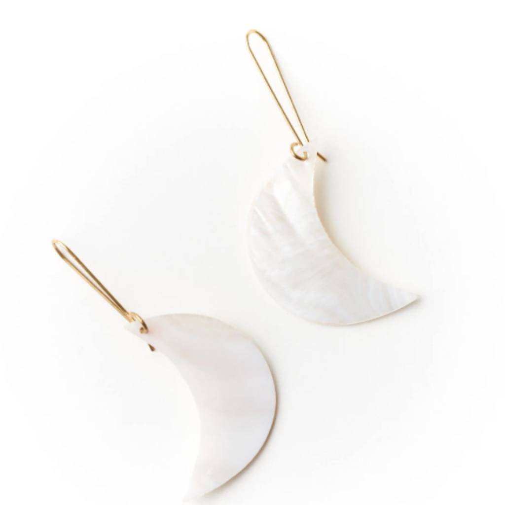 Pearl Crescent Earrings